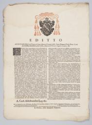 Editto Alessandro del Titolo de Santi Quattro Coronati della Santa Romana Chiesa...