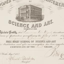 [Diploma granted to Lawrenc...