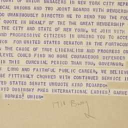 Telegram from David Dubinsk...