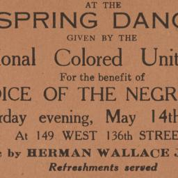Spring Dance given by the I...