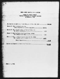 Acting Director's budget for committee on selection of manuscripts for AN AMERICAN DILEMMA, December 1940