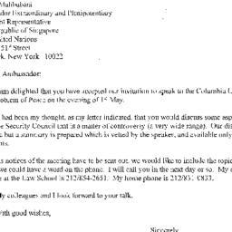 Correspondence, 2001-05-15....