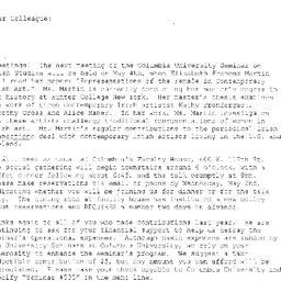 Announcements, 2001-05-04. ...