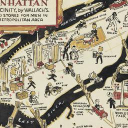 A     man's map of Manhatta...