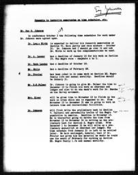 Appendix to tentative memorandum on time schedules, etc.
