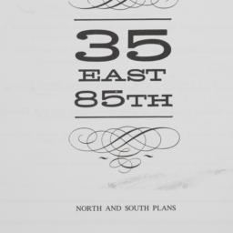 35 E. 85 Street, [plan Of S...
