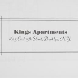 Kings Apartments, 1625 E. 1...
