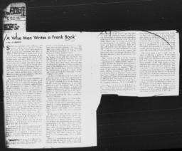 """Article on AN AMERICAN DILEMMA by L.D. Reddick, """"A Wise Man Writes a Frank Book,"""" 1944"""