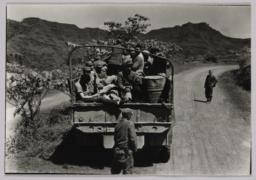 Guerilla Team In Trucks, May '45