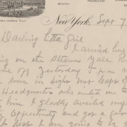 Broadway Central Hotel. Letter