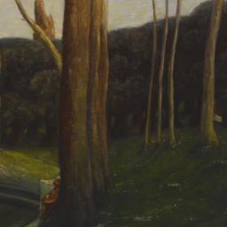 Landscape in an Italian Park