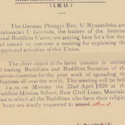 International Buddhist Unio...