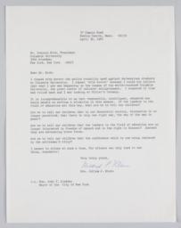 Letter from Mrs. Julian Klein of Newton Centre, MA to President Kirk