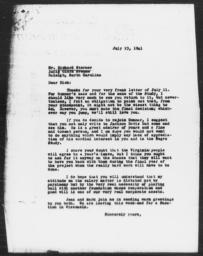 Letter from Charles Dollard to Richard Sterner, July 23, 1941