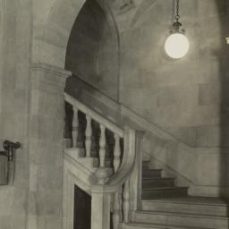 [Detail, interior staircase]