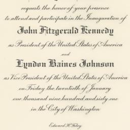 Invitation to the Inaugurat...