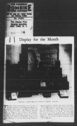 Article on Chicago Public Library window display promoting racial tolerance, showcasing AN AMERICAN DILEMMA and other books on American minority groups, WILSON LIBRARY BULLETIN, March 1945