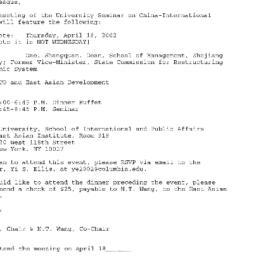 Announcements, 2002-04-18. ...