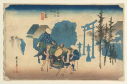 Morning Mist at Mishima, from the series Fifty-three Stations of the Tōkaidō