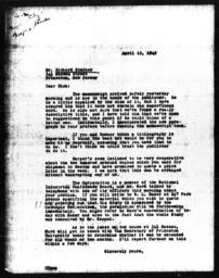 Letter from Charles Dollard to Richard Sterner, April 15, 1942
