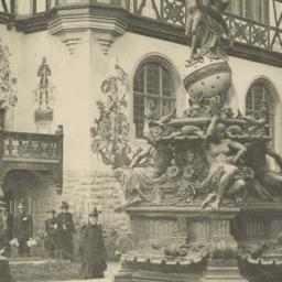 Fountain and portion of the...