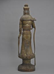 The     Bodhisattva Guanyin Standing on a Lotus Pedestal, Back