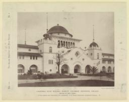 California State Building, World's Columbian Exposition, Chicago. Center of East front. A. Page Brown, San Francisco, Cal., Architect. P. B. Wight, Consulting Architect, Chicago