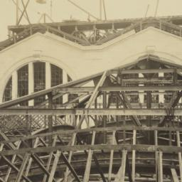 [View of concourse roof and...