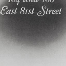 104 And 106 East 81st Stree...