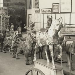 Carousel animal display at ...
