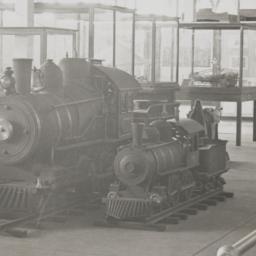 Two locomotives in Mangel's...