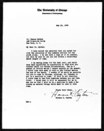 Letter from Horace R. Cayton to Gunnar Myrdal, May 19, 1939