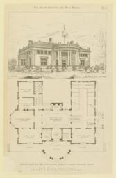 Approved design for Ohio State Building, World's Columbian Exposition, Chicago. James W. McLaughlin, Architect, Cincinnati. J. W. Yost, G. W. Rapp and F. A. Coburn, Associate Architects