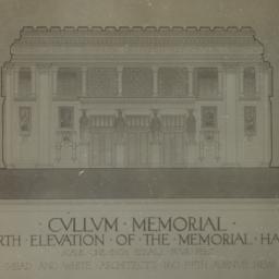 Cullum Memorial, North elev...