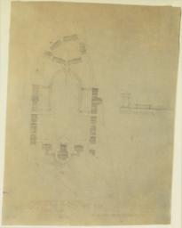 Arrangement of Grounds. University of the City of New York. Scheme No. 3c. McKim, Mead and Whte, Architects. [Plan and section A3]
