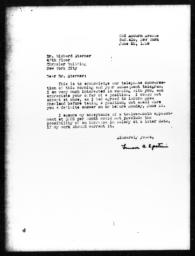 Letter from Lenore A. Epstein to Richard Sterner, June 22, 1939