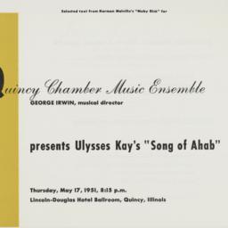 "Ulysses Kay's ""Song of Ahab..."
