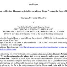 Announcements, 2012-11-15. ...
