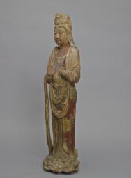 Bodhisattva Standing on a Lotus Base, Left 3/4