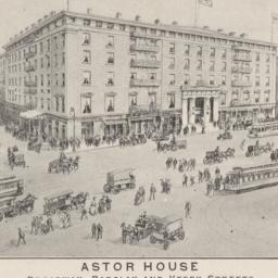 Astor House. Card stock