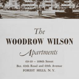 The     Woodrow Wilson Apar...