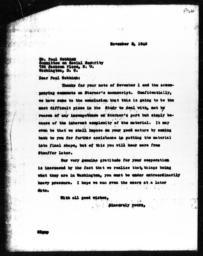 Letter from Charles Dollard to Paul Webbink, November 5, 1940