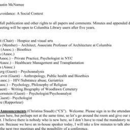 Minutes, 2014-03-12. Death,...