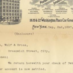 Geo. Borgfeldt & Co. Letter