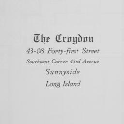 The     Croydon, 43-08 41 S...