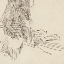 Girl Seated at a Desk