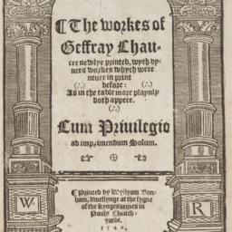 Workes of Geffray Chaucer n...