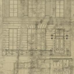 Plate 55. Front elevation a...
