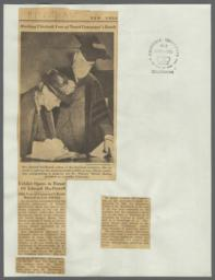 """""""Exhibit Opens in Honor of Edward MacDowell"""", Newspaper Clipping from the New York Herald Tribune, April 28, 1938."""