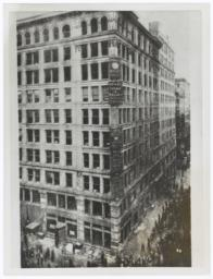 View of Asch Building, Washington Square during the Triangle Shirtwaist Factory fire